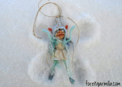 Elf in the snow