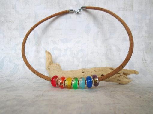 RainbowCorkNecklace