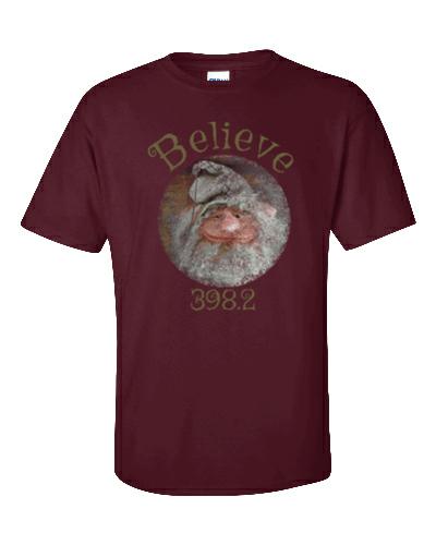 Believe Gnome Maroon